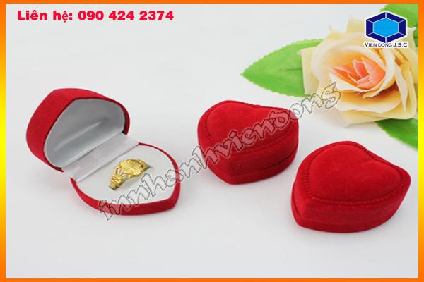 Hộp đựng nhẫn trái tim bằng nhung 0904242374 o sài gòn